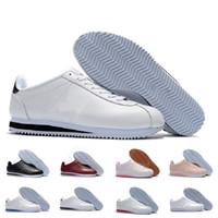 женская обувь высокого качества оптовых-Высокое качество Горячие новые бренды Повседневная Обувь мужская и женская обувь cortez досуг Оболочки обувь Кожа мода открытый кроссовки размер US5.5-10