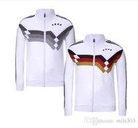 Wholesale germany coat - 2018 germany soccer jacket white world cup 18 19 DRAHLER kroos muller ozil GORETZKA HUMMELS Zip coat fiitball jacket training