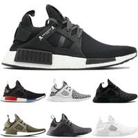 Wholesale camo football - Cheap NMD XR1 Mens Running shoes OG Mastermind Japan Triple Black White Zebra Olive Camo Men Women Trainer Primeknit Sports Sneakers