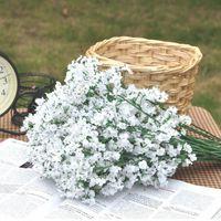Wholesale plant gypsophila flowers resale online - 100pcs Artificial Baby Breath Flowers Artificial Gypsophila Fake Silk Flower Plant Home Wedding Party Home Decoration