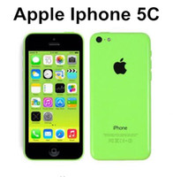 Wholesale 5c Unlock - Original Unlocked Apple iPhone 5C Mobile Phone 16GB rom iphone 5C 8mp camera GSM WCDMA iphone5c Best Quality refurbished phone
