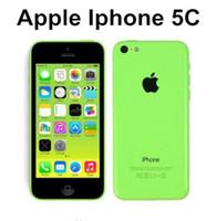 en kaliteli cep telefonları toptan satış-Orijinal Unlocked Apple iPhone 5C Cep Telefonu 16 GB rom iphone 5C 8mp kamera GSM / WCDMA iphone5c En Kaliteli yenilenmiş telefon