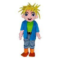 disfraces de personajes de chico al por mayor-Boy 002 Mascot Costumes Cartoon Character Adult Sz 100% Real Picture