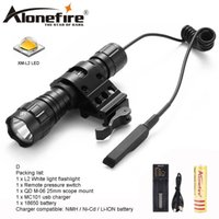 Wholesale cree flashlight pressure switch - AloneFire 501Bs CREE XM-L L2 LED Tactical Flashlight Torch Pressure Switch Mount Hunting Light for 18650 battery