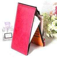 Hot selling Fashion Wallet Women Wallet Solid Leather Ultrathin Coin Zipper designer wallets Purse Women Handbags Card Holders