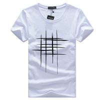 ingrosso cantiere art-Maglietta degli uomini di disegno di arte Linee trasversali Stampa maniche corte T-shirt Uomo Estate Big Yard Top Abbigliamento