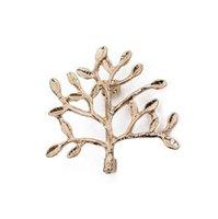 pintura de face metálica venda por atacado-Moda Árvores Ramos Broche Pins Unisex Jóias De Metal Preto Branco Pintura Grande Idéia Presente Sorriso Rosto Pin Broches