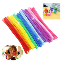 Wholesale Chenille Cloth - New Fashion 100Pcs Set Montessori Math Educational Toy Chenille Sticks Puzzle Craft Children Kid Pipe Cleaner Stems Craft Creative Toys