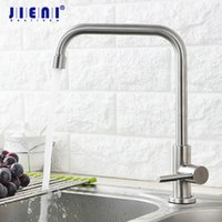Wholesale led sink light for sale - Lead free Swivel Nickel Brush Kitchen Faucet Deck Mount One Hole Handle Rotated Basin Sink Cold Tap facuet