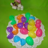 ingrosso puzzle di plastica per i bambini-Uova di plastica di colore di Pasqua Eco-friendly uova di fibbia 6 * 4 cm puzzle uova bambino bambini giocattoli regalo giorno di Pasqua festa nuziale decorazione fai da te HH7-365