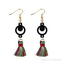 Wholesale restore antiques - European Fashion Extremely Simple Wind Restore Ancient Ways Antique Exaggeration Modeling Geometry Tassels Earring Temperament Earrings Woma