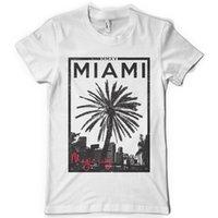 vendas de céu venda por atacado-T-Shirt Engraçado MIAMI MAGIC CITY SKY LINHA DTG. T-shirt da cor completa t-shirt T da venda quente