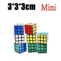 Wholesale magic goods - Puzzle cube 3x3x3cm Mini Magic Rubik Cube Game Rubik Learning Educational Game Rubik Cube Good Gift Toy Decompression Magic toys