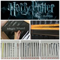 Wholesale wholesale role play toys online - Harry Potter Magic Wand design Cosplay Hermione Granger Role Play Resin Magical Wand Gift Box Harry Potter Magic Wands toy LJJK1042