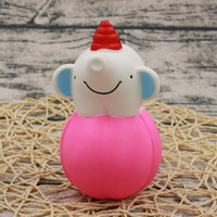 Wholesale Female Elephant - PU Simulation Elephant Squishies Lovely Safe Non Toxic Child Toy Stress Relief Slow Rising Squishy White Blue 10jz B
