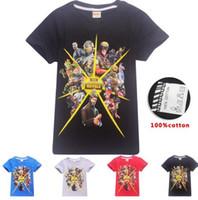 Wholesale retail girl shirt online - Summer Brand Retail cotton Fortnite Boys T shirt Battle Royale Kids Girls Short sleeved cute Tops Game Boy Funny shirt Clothing