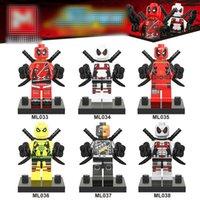 Wholesale deadpool toys - MR148 M030-035 Superheroes building blocks 2018 New children X-Men Deadpool 2 Movable Action Figure Minifig Toys B