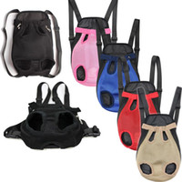 Wholesale Pet Backpack Carriers - 2018 Pet Outdoors Backpack Cats Dogs Travel Knapsacks Light Portable Pet Back Pack Good Air Permeability Bagpack BBA26