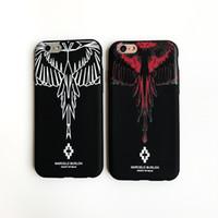 ingrosso ali delle mele-New Designer Phone Case Ala Scrub per IPhone X 6 / 6S 6plus / 6S Plus 7/8 7plus / 8plus Marchio di moda Stampa Protezione del telefono Rosso Bianco