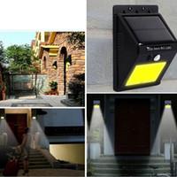 luces led canal al por mayor-NUEVO 20 LED Energía solar Punto de luz Sensor de movimiento Jardín exterior Luz de pared Lámpara de seguridad Canaleta