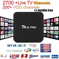 Wholesale Usa Android - TX5 pro 2+16GB Android TV BOX with EVDTV IPTV ARABIC Greek Turkish French Italy France UK USA Brazil Latin IPTV box KD 17.3 h.265 4k Video