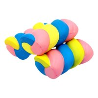 Wholesale patterns toys - Coloured Marshmallow Venting Props Soft PU Cute Squishy Toy Simulation Decompression Tools Squishies Toys Practical New Pattern 15ym X