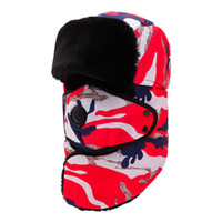 бобы с полным лицом оптовых-Men Winter Hat Balaclava Full Face Mask Cap Neck Warmer Skullies Beanies Female Hat Ski Cap Ride Windbreak Cold