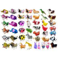 tiere spielzeug für kinder großhandel-Walking Pet Animal Helium Aluminiumfolie Ballon Automatische Abdichtung Kinder Baloon Spielzeug Geschenk Für Weihnachten Hochzeit Birthday Party Supplies