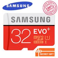 samsung tarjeta de 256 gb al por mayor-Samsung EVO + tarjeta de memoria original 32GB MB-MC32G EVO plus U3 128GB 256GB Class10 SDHC SDXC CCTV Tarjeta de memoria de cámara