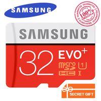 32gb sd kart bellek kartı toptan satış-Samsung Orijinal EVO + Hafıza Kartı 32 GB MB-MC32G EVO artı U3 128 GB 256 GB Class10 SDHC SDXC CCTV Kamera Hafıza Kartı