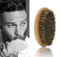 eberbürsten großhandel-Eber-Haar-Borsten-Bart-Schnurrbart-Bürsten-Militärharte Griff-Kamm-Frisuren-Werkzeug für Männer X072