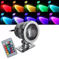 красочные огни бассейна оптовых-10W RGB LED подводный свет водонепроницаемый IP68 фонтан бассейн лампа 16 красочные изменения с 24key ИК-пульт