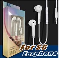 förderung für kopfhörer großhandel-Premium Stereo Qualität Fabrik Förderung für Samsung S7 S6 S6 Rand Kopfhörer Ohrhörer Headset Kopfhörer 3,5 mm Nicht Verpacken (Weiß) EO-EG920LW