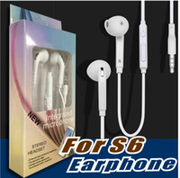 Wholesale promotion for earphones for sale - Group buy Premium Stereo Quality Factory Promotion For Samsung S7 S6 S6 Edge Earphone Earbud Headset Headphones mm Non Packaging White EO EG920LW
