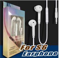 embalaje de auriculares al por mayor-Promoción Premium Stereo Quality Factory para Samsung S7 S6 S6 Edge Earbud Auriculares Auriculares 3.5mm Non Packaging (Blanco) EO-EG920LW