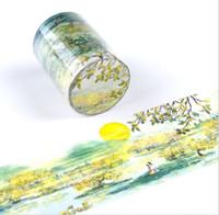 cinta adhesiva amarilla al por mayor-60 mm mundo de Osmanthus flor amarilla Washi Tape Adhesive Tape DIY Scrapbooking Etiqueta Etiqueta Masking Craft 2016