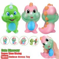 Wholesale toys dinosaurs dragon - Cute Dinosaur Squishy Cream Jumbo Scented Slow Rising Squeeze Strap Toy Slow Rising Squishy Dragon toy FFA067