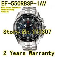 Wholesale Second Watches - Wholesale-EF-550RBSP-1AV New EF-550RBSP-1A EF 550RBSP 550 Sports Chronograph Men's Watch 1 20 Second Stopwatch Pendulum Swing Function