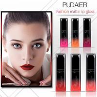 Wholesale beautiful lip online - HOT NEW PUDAIER colors MATTE lip gloss LIPSTICK Makeup Waterproof Beautiful Cosmetics DHL