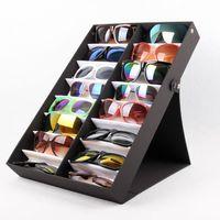 Wholesale sky sunglasses - Foldable Sunglasses Box Eyewear Organizer Display Case Collector Eyeglass Box Sunglasses Storage Holder