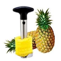 sebze meyveleri soyulması toptan satış-Paslanmaz Çelik Ananas Soyucu Kesici Dilimleme Tart Kabuğu Çekirdek Araçları Meyve Sebze Bıçak Gadget Mutfak Spiralizer OOA4831