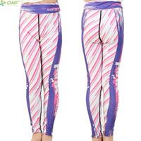 Wholesale Youth Pants Wholesale - Pink Letter Print Youth Leggings Splash-ink Children Yoga Pants Girl Slim Fit Sports Trousers Graffiti Skinny Kids Tights