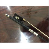 Wholesale Horse Hair Bow - new light carbon fiber 4 4 violin fiddle bow copper parts black horse hair