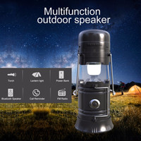 Wholesale solar speakers - Multifunction Portable Outdoor Wireless Bluetooth Speaker LED Camping Lantern Solar Collapsible Light for Camping Hiking flashlight FM Radio
