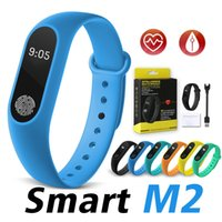 Wholesale Female Gps - M2 Smart Watch Fitness Tracker Heart Rate Monitor Waterproof Activity Tracker Smart Bracelet Pedometer Call remind Health Wristband