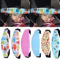 bebek arabası emniyet kemeri kayışları toptan satış-Yeni Ayarlanabilir Bebek Kafa Desteği Arabası Araba Koltuğu Sabitleme Kemer Uyku Güvenlik Kayışı Araba Koltuğu Uyku Pozisyoner CCA9437 100 adet