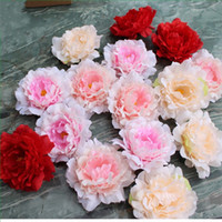 Wholesale peony decor online - 12cm Artificial Peony Flower Hand Made Raw Silk Real Touch Wedding Party Bride Bouquet Decoration Fashion Home Floral Decor fb YY