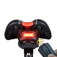 ingrosso telecomando dell'allarme della bicicletta-ANTUSI A6 Bicicletta 3 in 1 Retroilluminazione wireless Ciclismo Telecomando Blocco allarme Mountain Bike Smart Bell COB Tailight USB Charge