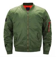 Wholesale pilot jackets online - Mens Designer Jackets Autumn Winter Male Solid Color Coats Spring MA1 Bomber Jakcet Mans Pilot Outerwear