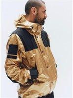 ropa de diseñador de plata al por mayor-Mens del diseñador de moda de invierno chaquetas rompevientos para hombre reflector de plata del Norte chaquetas Homme oro para hombre de la calle principal chaquetas